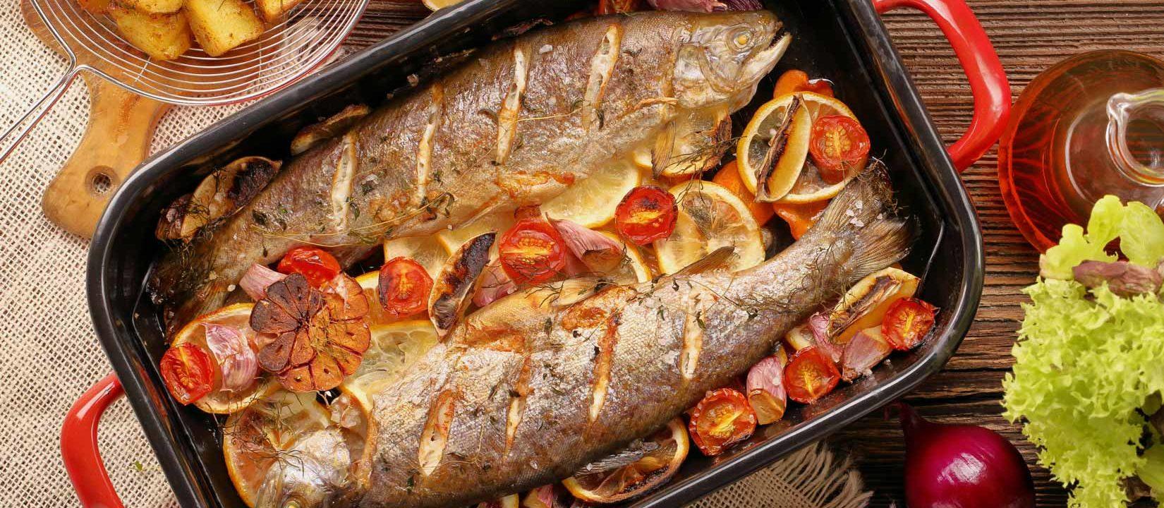 Pește la cuptor cu legume